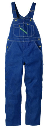 Key Imperial Blue Denim Bib Overall with button Fly or Zipper Fly. Available factory direct from www.Bohlings.com
